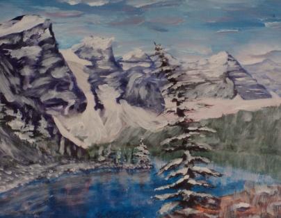 Magnificent Moraine, #17057, $250, Acrylic, 8x10