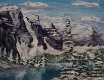 Moraine Lake, #17056, $250, Acrylic, 8x10