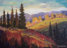 Bovine Bliss, #18039, $850, Acrylic, 16x22