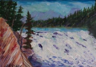 Bow Falls - Banff, #18045, $125, Acrylic, 5x7