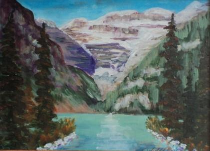Lake Louise, #18030, $250, Acrylic, 8x10