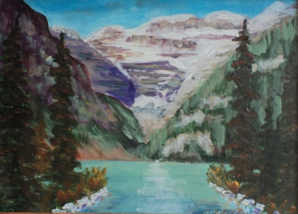 Lake Louise, #18030, $250, Acrylic, 8x10