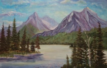 Rocky Mountain Wilderness, #18028, $2500, Acrylic, 24x36
