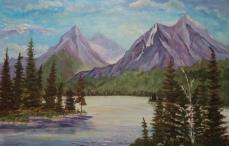 Rocky Mountain Wilderness, #18028, $2500, Acrylic, 24x36