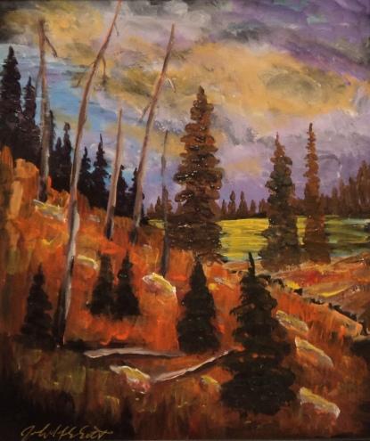 Wild Wilderness, #18042, $360, Acrylic, 10x12