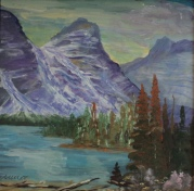 Magnificent Moraine, #18046, Acrylic, $300, 10x10