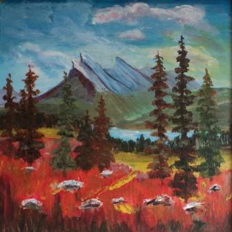 Mount Rundle, #18049, $300, Acrylic, 10x10