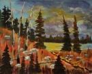 Mountain Beauty, #18050, $180, Acrylic, 7x9