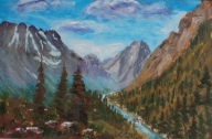 Rocky Mountain Valley, #18048, $160, Acrylic, 6x9