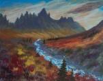 Spectacular Silhouette, #18052, $250, Acrylic, 8x10