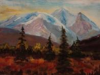 mountain meadow, #19002, $250, acrylic, 8x10