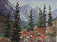 mountain wilderness, #19004, $250, acrylic, 8x10