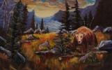 rocky mountain meadow, #17073, $460, acrylic, 10x15