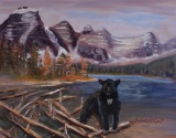 Blackie at Moraine Lake, #17020, $185, Acrylic, 6x9