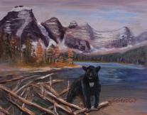 Blackie at Moraine Lake, #17020, $185, Acrylic, 6x9