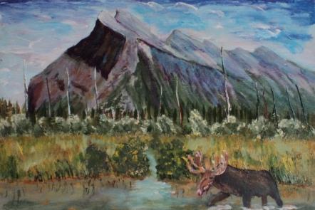 Mount Rundle, #15055, $250, Acrylic, 8x10