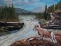 Sheep River Falls, #15060, $250, Acrylic, 8x10