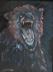 Sparky, #19008, $250, Acrylic, 8x10