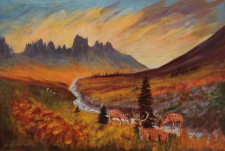 Spectacular Silhouette, #18051, $1000, Acrylic, 22x15