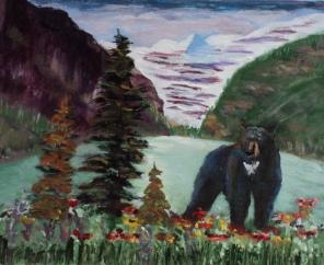 The Boss at Lake Louise, #17025, $250, Acrylic, 8x10