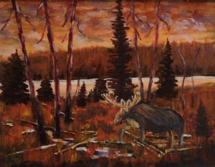 Autumn Dusk, #17072, $460, Acrylic, 11x14