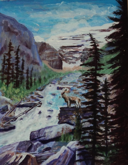 Glacial Torrent, #17064, $420, Acrylic, 10x14