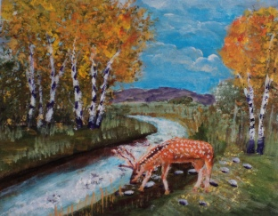 Red Deer River, #16013, $250, Acrylic, 8x10