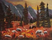 Rocky Mountain High, #18037, $250, Acrylic, 8x10