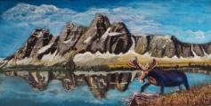 Amythest Lake, #15028, $850, Acrylic, 12x24