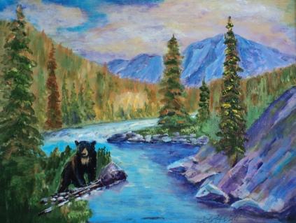 Blackie, #18019, $460, Acrylic, 11x14