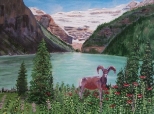 Lake Louise, #16034, $1150, Acrylic, 18x24