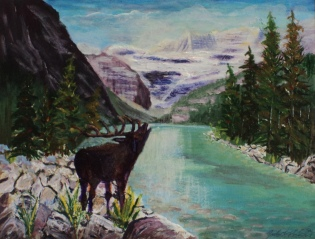 Lake Louise, #17017, $360, Acrylic, 10x12