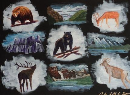 Memories of Western Canada, #19011, $975, Acrylic, 18x24