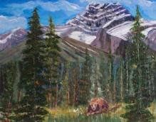 Mt. Lougheed all Spruced Up, #16059, $250, Acrylic, 8x10