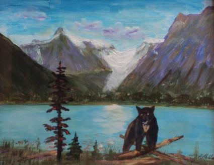 President's Glacier, Emerald Lake, #18029, $275, Acrylic, 8x11