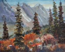 Rocky Mountain Wilderness, #19003, $250, Acrylic, 8x10