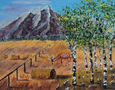 Sentinels of the Harvest, #16064, $250, Acrylic, 8x10