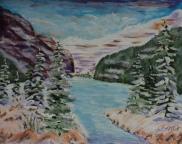 Lake Louise, #17091, $250, Acrylic, 8x10