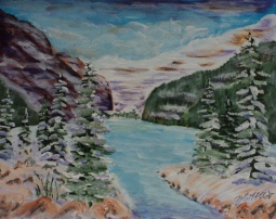 Lake Louise, #17091, $250, Acrylic, 8x10
