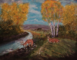 Red Deer River, #16003, $950, Acrylic, 16x20