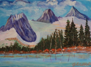 Three Sisters, #18025, $420, Acrylic, 10x14