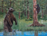Grizzly Play Day, #19019, $250, Acrylic, 8x10