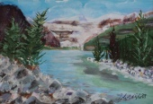 Lake Louise 25, #17035, $125, Acrylic, 4x8