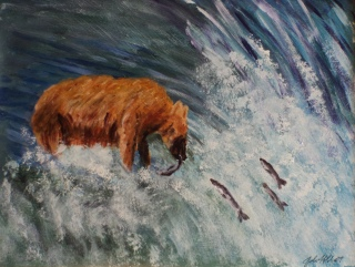 The Fisherman, #19018, $460, Acrylic, 11x14