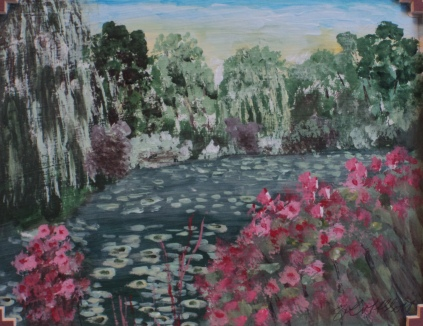 Giverny Revisited, #19026, $250, Acrylic, 8x10