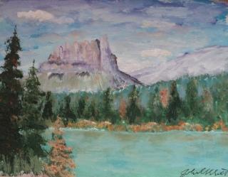 Castle Mountain, #19028, $250, Acrylic, 8x10