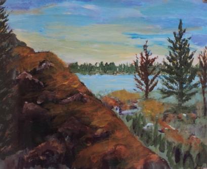 Wilderness Bluff, #19027, $250, Acrylic, 8x10