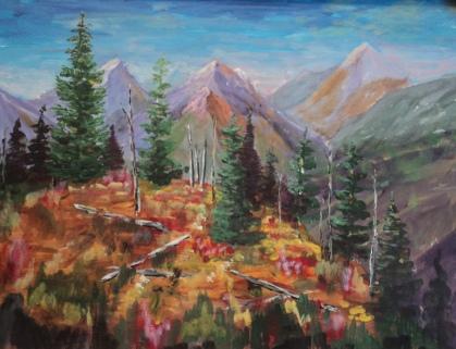Rocky Mountain Wilderness, #19031, $1250, Acrylic, 18x24