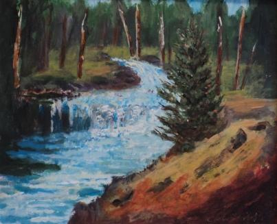 Wilderness Waters, #19030, $360, Acrylic, 10x12