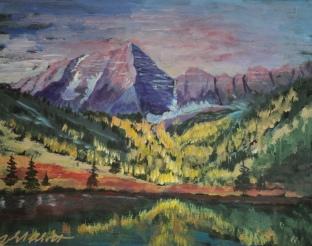 Mountain Majesty, #20001, $750, Acrylic, 16x20